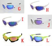 ingrosso occhiali da bicicletta gialli-NUOVO nero bianco rosso giallo rosso uomo Bicicletta Ciclismo Occhiali Occhiali Sport Sunglass UV400 3 Lenti Occhiali da sole sportivi Occhiali