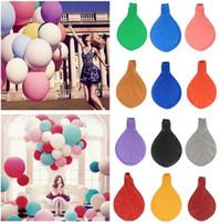 36 duş toptan satış-Yeni 36 inç Büyük Bebek Duş Dekor Balon Doğum Günü Düğün Parti Dekorasyon Çocuklar Doğal Lateks Dev Balonlar I144