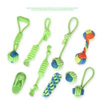 ingrosso occhiali da cucina in plastica-Nuovo giocattolo per cani Pet cane in corda di cotone denti denti giocattoli peluche molari e puliti giocattolo