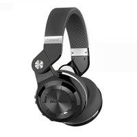 auriculares de turbinas al por mayor-2018 Nuevo Bluedio Headest T2 + Turbine 2 Plus Auricular Bluetooth plegable Bluetooth 4.1 Soporte para auriculares Tarjeta SD y radio FM para llamadas Música