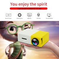 hdmi mm al por mayor-YG300 LED Proyector portátil 400-600LM 3.5 mm Audio 320 x 240 píxeles YG-300 HDMI 1080P USB Mini proyector Home Media Player Beamer