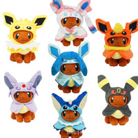 Wholesale flareon doll resale online - New Eevee Cosplay Jolteon Espeon Umbreon Flareon Glaceon Vaporeon Sylveon Plush Doll Toy Gifts inch cm