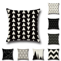 Wholesale black linen pillow cushion cover for sale - Group buy NEW Design Christmas Geometry Cushion Covers Cotton Linen Black Pillow Cover for Sofa Bed Nordic Pillow Case Almofadas x45cm