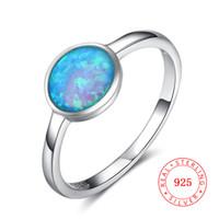 ingrosso pietre sintetiche del gemma-RI102875 nuovo anello solitario per donna Anello in argento sterling 925 grandi anelli gemma sintetica opale blu