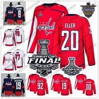 Wholesale hockey 13 - Washington Capitals #20 Lars Eller 13 Jakub Vrana 18 Chandler Stephenson 22 Madison Bowey 2018 Stanley Cup Champions Red White Jersey S-60