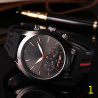 montre de mouvement relojes achat en gros de-Mode Hommes Sport Montre-Bracelet Maserati Bracelet En Caoutchouc Quartz Mouvement Cadeau Heure Horloge Wacth Relojes Hombre Horloge Orologio Uomo