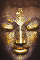 Wholesale blackboard home decor resale online - Face of Buddha Home Decor Art Silk Poster x36inch x43inch