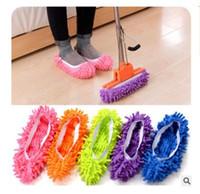çamaşır terlikleri toptan satış-Moda Toz Paspas Terlik Toz Temizleyici Otlatma Terlik Ev Banyo Zemin Temizleme Paspas Terlik Tembel Ayakkabı 5 Renkler DHL Ücretsiz Kargo