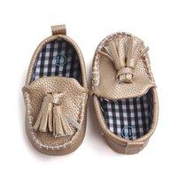 кулон для девочки оптовых-Новорожденный ребенок обувь для новорожденных Prewalker обувь Baby Boy девушка Pu кисточкой кулон из кожи Обувь Мокасины Первый ходунки