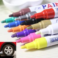 ingrosso tyre paint pen-colorato impermeabile penna auto pneumatico pneumatico battistrada CD metallo pennarelli vernice permanente graffiti pennarello pennarello marcador caneta di cancelleria