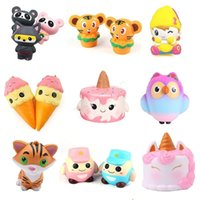 Wholesale latex movie for sale - Group buy Squishy Toy Ice cream Owl Animal chicken tiger unicorn squishies Slow Rising cm cm cm cm Soft Squeeze Cute gift Stress children toy1