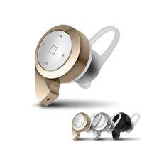 headset ohne mikrofon großhandel-Neuestes Produkt MINI A8 drahtlose Bluetooth Kopfhörer Stereo V4.0 im Ohr ohne Mikrofon Headset mit Mikrofon