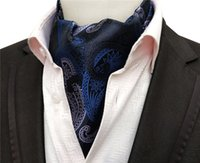 blauer paisley schal großhandel-Cool Blue Men Paisley Scarf Formelle Anlassschals passend zu Anzügen