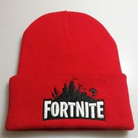 Wholesale men black women costume for sale - Fortnite Battle Knitted Hat Beanies Hip Hop The Fortress Night Embroidery Costume Winter Soft Warm Woolen Men Women Party Cap lh bb