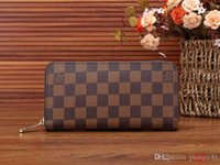 Wholesale fruit shaped handbags for sale - Group buy New designer handbags Vintage PU Mens Wallets Fine Bifold Brown Black PU Leather Credit Card Cool tri fold Wallet for men Free Delivery