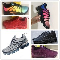 Wholesale max tn sports shoes - 2018 New Vapormax TN Plus Mens sneaker Shoes For Men Fashion Athletic Sport Shoe Corss Hiking Jogging black Vapor Maxes Outdoor Shoes