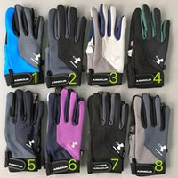 Wholesale Winter UA Gloves Unisex Patchwork Fleece Glove Under Outdoor Sports Armor Thick Warm Guantes Gloves for Skiing Fishing Hiking Cycling