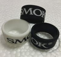 vape tank gummiband großhandel-smok vape band siebdruck logo für tank benutzerdefinierte e zigarette band ring silikon gummibänder mit SMOK logo free