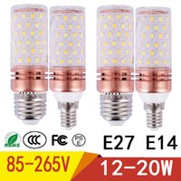 Wholesale e14 rgb led lamp bulb - E27 E14 LED lamp Corn light NEW 12W 15W 20W Corn lamp 85V-265V Aluminum Cooling High Power Bulb