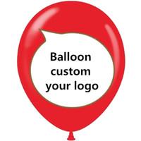 kostenlose hochzeitswerbung großhandel-Frei versendender Druckballon des freien Verschiffens 200 personifizierte Werbungsballon mit Buchstabentextdrucken für Hochzeitsgeburtstag