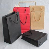 ingrosso avvolgere la pubblicità-I produttori all'ingrosso 500pcs / lot del mestiere di carta boutique marrone sacchetti di carta commerciale logo personalizzato / vestiti / gioielli / pubblicità