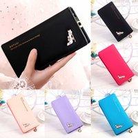 niedliche einfache brieftaschen großhandel-Stöckelschuhe 1PC Cute Wallet Damen Münztüte Leder Damen Simple Bifold Kleine Handtasche