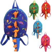 Wholesale Backpack Safety Harness - 5 Colors Kids Safety Harness Backpack Leash Child Toddler Anti-lost Dinosaur Backpack Cartoon Arlo Kindergarten Backpacks CCA9275 60pcs