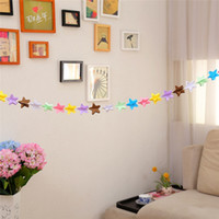 Wholesale garlands high quality resale online - 1 M Colorful Paper Garland Banner for Wedding Home Party Decoration Hand Made Party Supplies High Quality