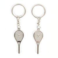 Wholesale couple chains pendants resale online - 2019 new Sports Tennis Racket Metal Alloy Keychain Couples Key Chain Pendant Keyring Keychains Business Gift