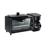 horno de la máquina al por mayor-Máquina eléctrica multifuncional completamente automática del desayuno del pan de la máquina del café 3 en 1 fabricante hornada horno huevo frito