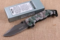 Wholesale cold steel knife for hiking resale online - 2018 Cold Steel DA89 Outdoor Flipper Folding Pocket Knife HRC Camo Handle Tactical Gear EDC Tools Xmas Gift Knives For Men P178F