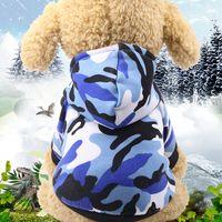 bandanas do cão do inverno da queda venda por atacado-Camuflagem Dog Coats Roupas para Pequenos Cães Vestuário Camisas Trajes Amazon Pet filhote de cachorro roupas Casaco de inverno Cachorrinho Autumn Fall
