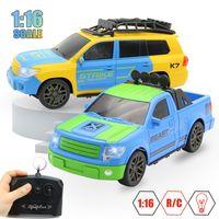 carros com ração venda por atacado-1:16 4ch rc carro de controle remoto modelo de carros a pilhas modelo de carro piscando rc brinquedo controle remoto remoto com controlador de rádio !!