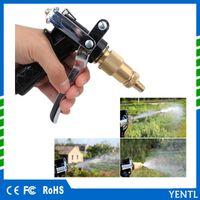 Wholesale Water Pressure Hose - High Pressure Water Gun Spray Plastic Copper Nozzle For Car Washing Garden Watering Garden Hose Gun Auto Brass Metal wholesale price