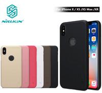 Wholesale original nillkin case for sale – best For iPhone XS Max Case Original Nillkin Frosted Shield Hard Back Matte Cover Case For iPhone X XS XR Bumper Gift Phone Holder