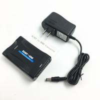 Wholesale mhl hdmi converter - EU US UK AU Plug AC Power Adapter 1080P 720P Scart To HDMI MHL Converter Audio Video Adapter For HD TV Sky Box STB DVD