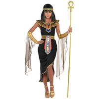 trajes estrangeiros venda por atacado-Papel de comércio exterior jogar sexy dress ball, traje de Cleópatra Cosplay Halloween Costume