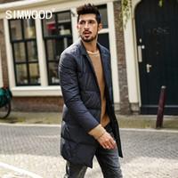 Wholesale Puffer Jacket Men - Simwood 2017 Winter Men Coats Fashion Long Windbreaker Jackets Black Coats Plus Size Brand Clothes High Quality Puffer YR017006
