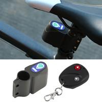 bisiklet döngüsü çanları toptan satış-Bisiklet Alarm Kilidi Anti-hırsızlık Bisiklet Güvenlik Kilidi Bisiklet Dağ Yol Bisikleti Bell için Kablosuz Uzaktan Kumanda Titreşim Alarmı