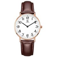 relógios impermeável baratos venda por atacado-Fino e impermeável relógio de quartzo para senhoras com pulseira de couro Relógio de pulso à prova d'água moderna e elegante relógio de pulso casual