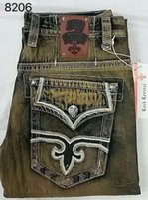 männer jeans größe 42 32 großhandel-Kostenloser Versand heißer Männer Robin Rock Revival Jeans Kristall Studs Denim Hosen Designer Hose 2017 Männer Größe 32-42 Shorts
