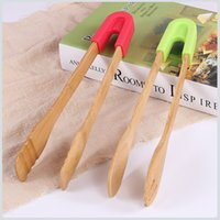 Wholesale Food Clips Plastic - Green Safe Household Kitchen Baking Tool Bamboo Food Clip Barbecue Clips Multifunction Detachable Factory Direct 7 2rh X