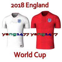 Wholesale England World Cup Jerseys - 2018 England World Cup Jersey 10 ROONEY KANE BARKLEY STURRIDGE STERLING HENDERSON VARDY HART ALI Home Away Soccer Football Jerseys Shirts