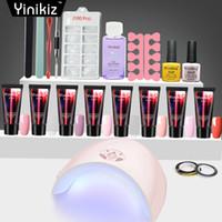 tırnak | toptan satış-Yinikiz Tırnak Poli Jel Kiti 36 w UV LED Çiviler Builder Jel Hızlı Kuru Temizle Kamuflaj Renk Akrilik Çiviler Sanat Manikür Araçları