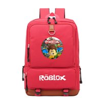 Wholesale pink laptops for kids - Roblox Game Casual Backpack for teenagers Kids Boys Children Student School Book Bags travel Shoulder Bag Unisex Laptop Bags