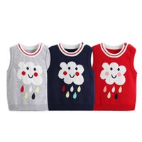 Wholesale Thick Fringe - Winter Baby Jas Warm Vest Newborn Knited Crochet Waistcoat Girl Boy Sweater Fringe Vest Kids Knitwear Outwear Thick Winter Coat