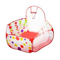 Nueva Plegable Kids Portable Pit Ball Pool Al aire libre Interior Bebé Play  Tent Hut House Baby Toy Niños Carpa Diversión Diseño 1828a8b127f3e