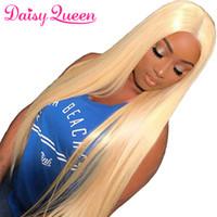 en iyi sarışın uzantılar toptan satış-613 Sarışın Bakire Saç Perulu Hint Malezya Brezilyalı Düz Saç Uzantıları 4 Demetleri Sarışın Remy İnsan Saç Toptan Örgüleri