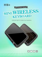 Wholesale mini pc andriod - H18 Mini Full Screen Touching Wireless Mouse 2.4G Backlight Keyboard Rechargeable Remote Control For PC Andriod TV With Retail Box