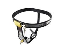 ingrosso gabbia di castità di alta qualità-Cintura per intimo maschile in acciaio inossidabile di alta qualità con cinturino in caucciù # Y98